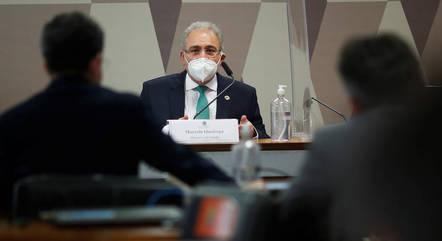Queiroga deu seu 1º depoimento à CPI em 6 de maio