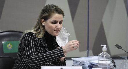 Francieli Fantinato na CPI da Covid