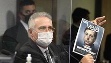 Flávio Bolsonaro chama Renan Calheiros de 'vagabundo' na CPI