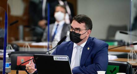Na imagem, senador Flávio Bolsonaro (Patriota-RJ)