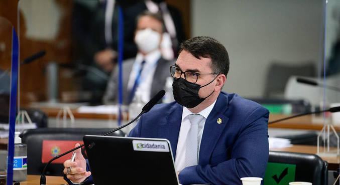 O senador Flávio Bolsonaro, que teve decisão sobre foro privilegiado