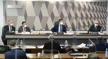 Na imagem, sessão da CPI da Covid no Senado