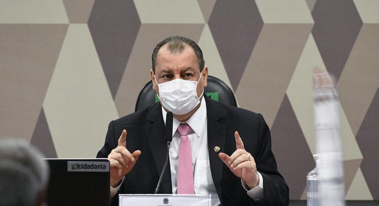 Foto: O presidente da CPI da Covid-19, Omar Aziz