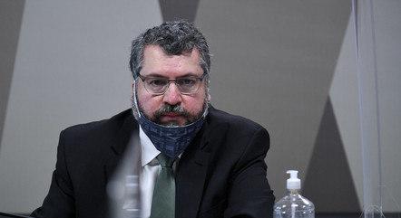 O ex-chanceler Ernesto Araújo