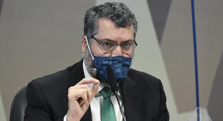 A CPI da Covid ouviu nesta terça-feira (18) o ex-chanceler Ernesto Araújo