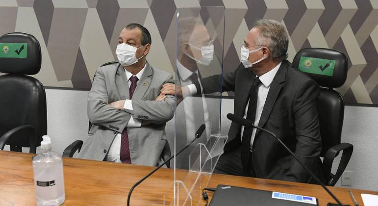 Senadores Omar Aziz e Renan Calheiros, integrantes da CPI da Covid