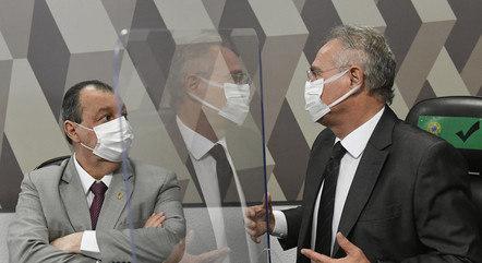 Na imagem, presidente e relator da CPI da Covid