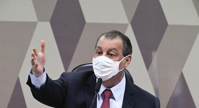 O senador Omar Aziz (PSD-AM), presidente da CPI da Covid