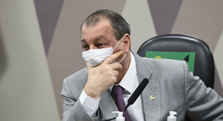 Presidente da CPI da Pandemia, senador Omar Aziz (PSD-AM).