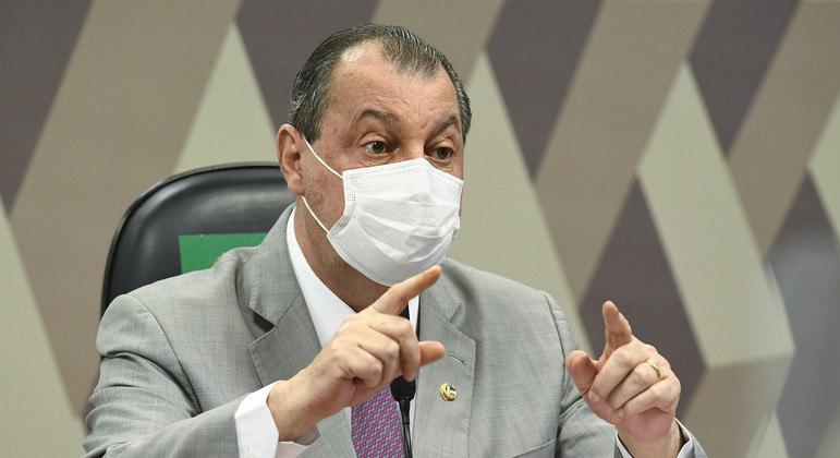 Senador Omar Aziz (PSD-AM), presidente da CPI da Covid