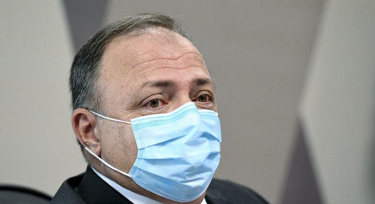 Eduardo Pazuello em depoimento à CPI da Covid