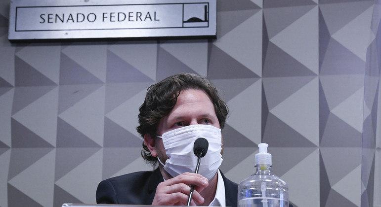 Comissão Parlamentar de Inquérito da Pandemia realiza oitiva do empresário Danilo Berndt Trento para esclarecer, entre outros fatos, qual o grau de envolvimento dele com o dono da Precisa Medicamentos