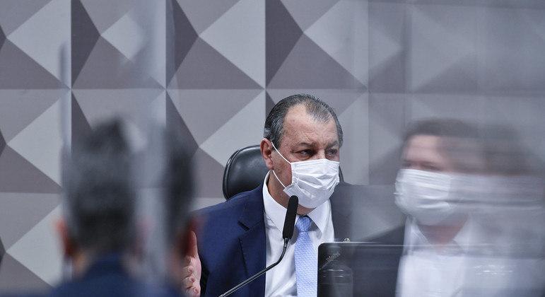 O presidente da CPI da Covid, senador Omar Aziz (PSD-AM)