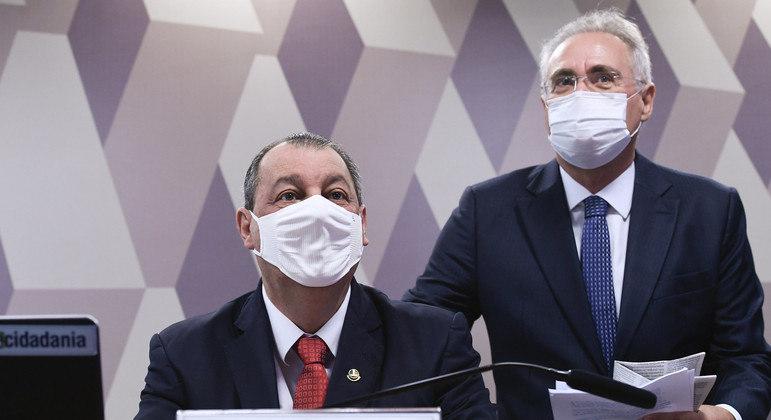 Omar Aziz e Renan Calheiros, da CPI da Covid: 'Não dá para confiar em nada do que essa empresa fala'