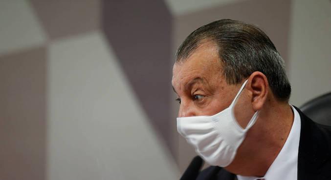 O presidente da CPI da Covid, senador Omar Aziz (PSD-AM), que criticou Bolsonaro