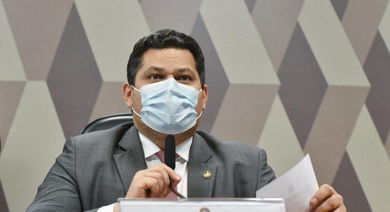 O Presidente da CCJ, senador Davi Alcolumbre (DEM-AP):  sabatina de Mendonça segue fora da pauta.      Foto: Leopoldo Silva/Agência Senado