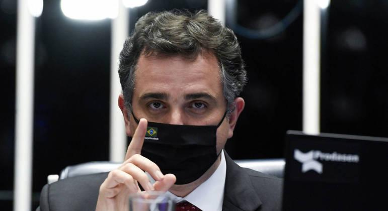 Rodrigo Pacheco (DEM-MG), que defendeu discussão tributária sobre o preço dos combustíveis