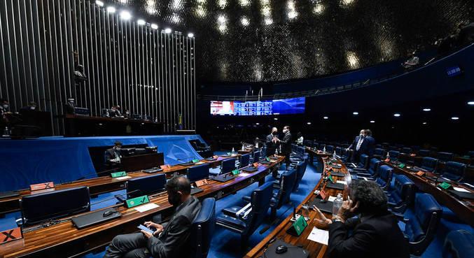 Plenário do Senado Federal durante sessão deliberativa