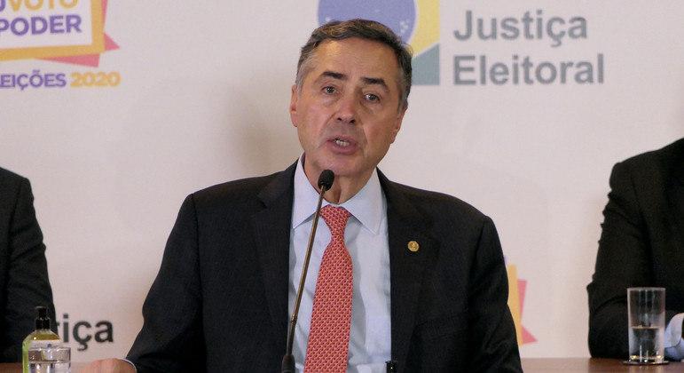 O, presidente do Tribunal Superior Eleitoral (TSE), ministro Luís Roberto Barroso