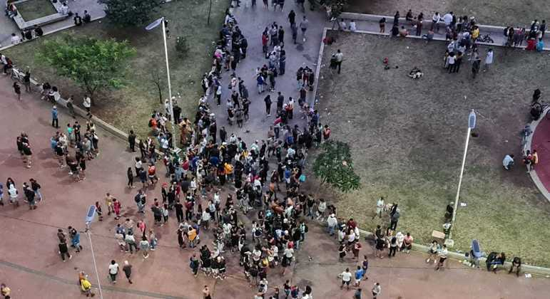 Praça Roosevelt, no centro de São Paulo, registra aglomerações