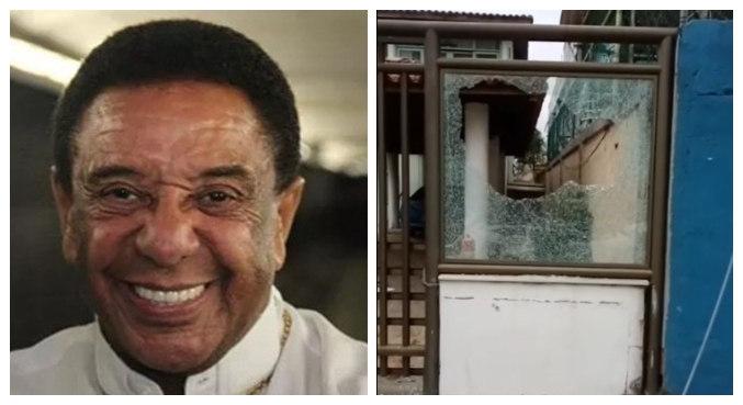 Casa de Agnaldo Timóteo teve vidros da fachada quebrados