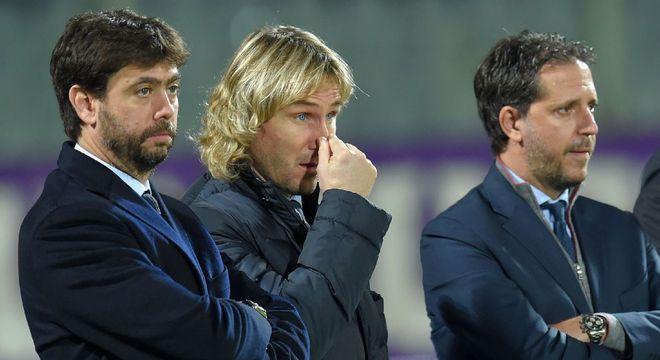 Andrea Agnelli, Pavel Nedved e Fabio Paràtici