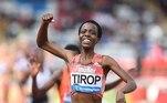 Além de recordista mundial dos 10.000 metros, Tirop foi a terceira colocada no mundial de 2019 dos 5.000 metros