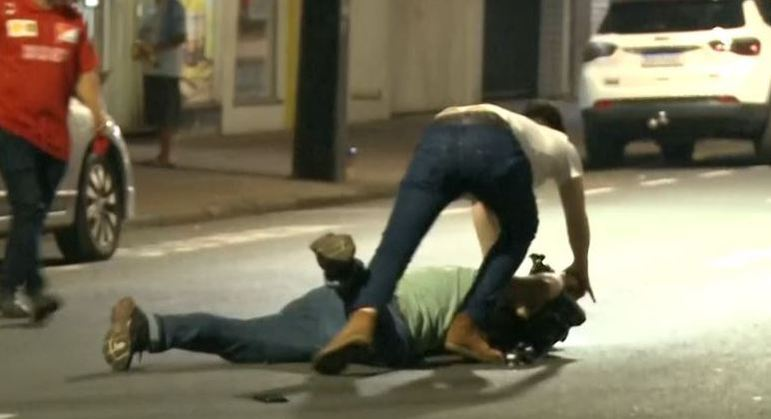 Imagens mostram cinegrafista sendo agredido por motorista alcoolizado
