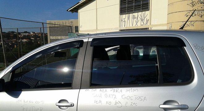Ana Luisa Mascherpe Neves, 26 anos, teve o carro depredado por alunos