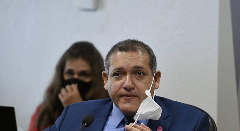 O ministro Kassio Nunes Marques, do STF, durante evento no Senado