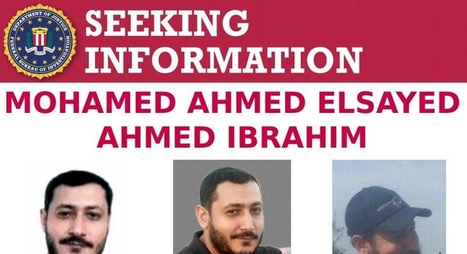 Cartaz divulgado pelo FBI apontando Mohamed como procurado pela órgão