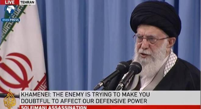 Líder supremo do Irã, o aiatolá aiatolá Seyyed Ali Khamenei
