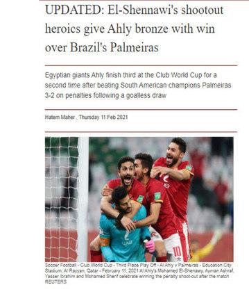 Al Ahram Web - O jornal esportivo do Egito destacou a vitória doAl Ahly como 'heróica'.