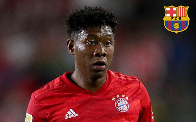 Alaba. Posição: Lateral esquerdo. Idade: 27 anos. Clube atual: Bayern de Munique. Clube interessado: Barcelona.