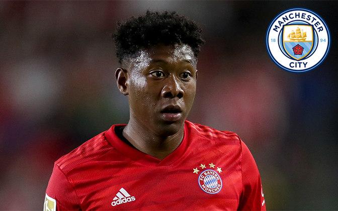 Alaba. Posição: Lateral esquerdo. Idade: 27 anos. Clube atual: Bayern de Munique. Clube interessado: Manchester City.