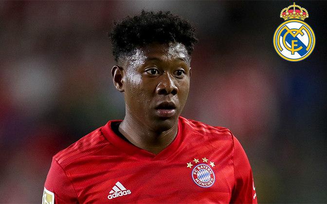 Alaba. Posição: Lateral esquerdo. Idade: 27 anos. Clube atual: Bayern de Munique. Clube interessado: Real Madrid.