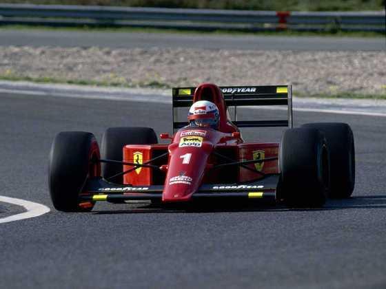 Alain Prost chegou à Ferrari como tricampeão mundial. Em 1990, foi vice. Em 1991, sofreu muito e deixou o time durante a temporada