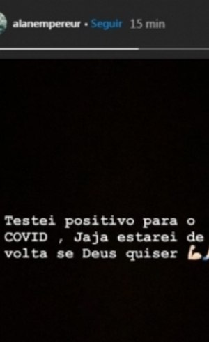 Alan confirmou doença no Instagram