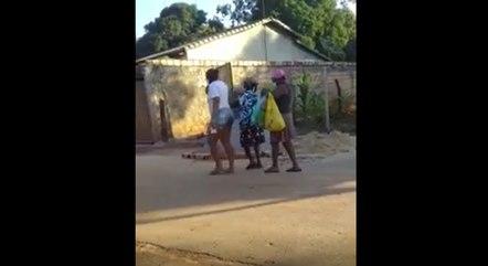 Moradores saíram às pressas das casas