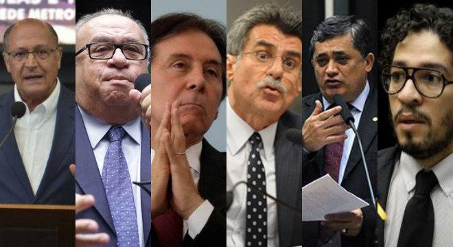 Alguns dos políticos que foram hostilizados pelos eleitores