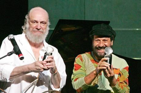 Aldir e João Bosco, um dos principais parceiros do compositor