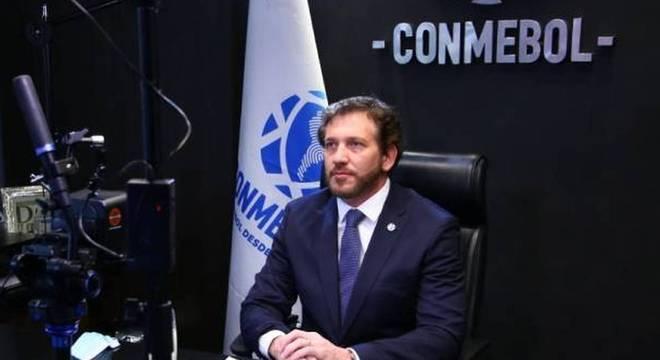 Presidente da Conmebol,Alejandro Domínguez  foi firme com a Globo