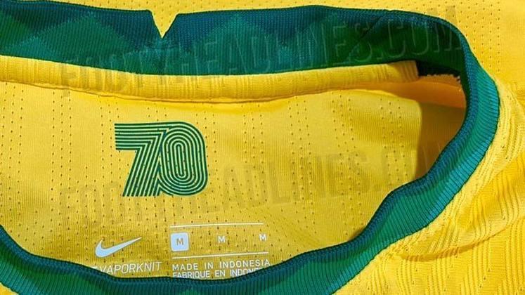 Além disso, o uniforme conta com uma homenagem à seleção brasileira campeã do mundo em 1970 - conquista que completou 50 anos em 2020