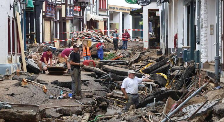 Inundações deixaram quase 200 mortos na Alemanha