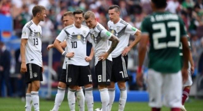 Alemanha entrou na Copa como favorita, mas não conseguiu vencer os mexicanos