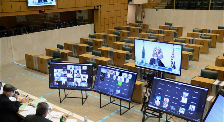 Sessão na Assembleia Legislativa de SP
