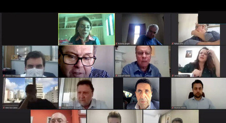 Deputados de SP em sessão virtual