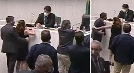 Fernando Cury apalpou Isa Penna em sessão da Alesp