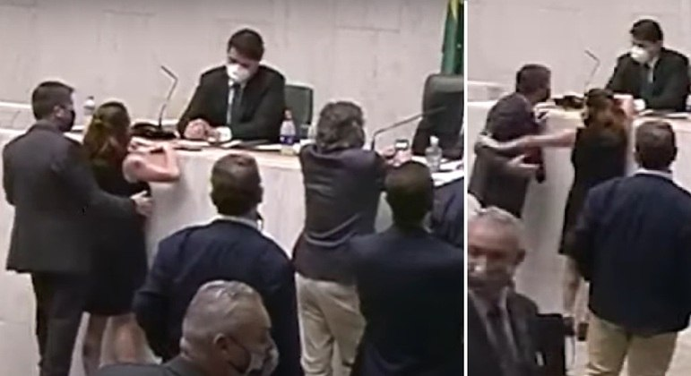 Deputada Isa Penna (PSol) repeliu o deputado Fernando Cury (Cidadania)