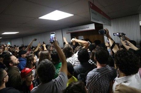 Protesto dos servidores públicos na Alesp
